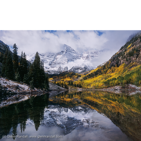 Clearing Storm over the Maroon Bells