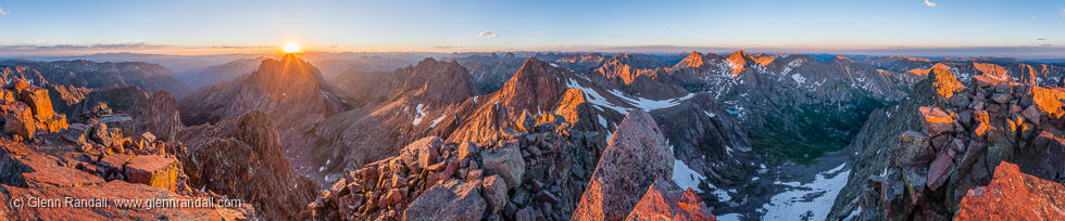 Mt. Eolus Panorama, Weminuche Wilderness, Colorado