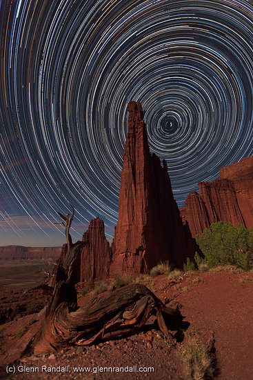 Star Trails over the Titan, Fisher Towers, Utah