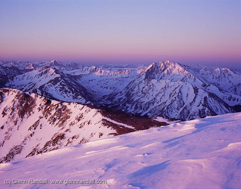 Sunrise from Mt. Elbert, San Isabel National Forest, Colorado