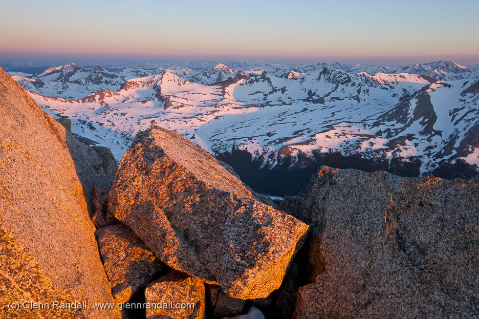 Sunrise from Mt. Harvard, Collegiate Peaks Wilderness, Colorado