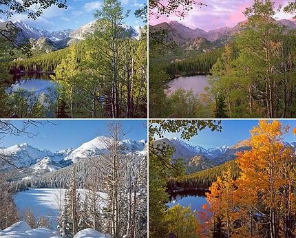 Bear Lake Four Seasons, Rocky Mountain National Park, Colorado
