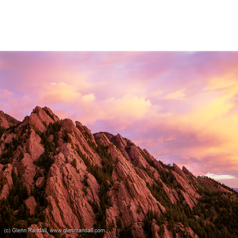 The Flatirons from Bear Mountain