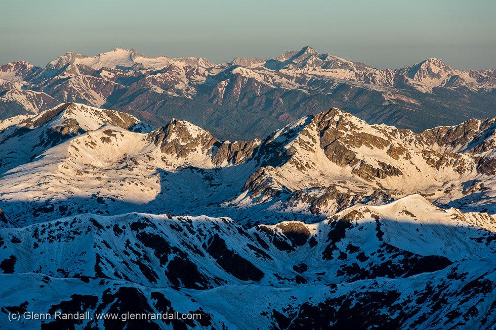 Sunrise from Mt. Massive, Mt. Massive Wilderness, Colorado