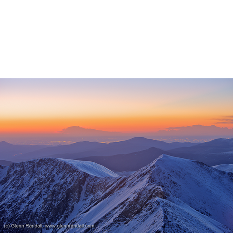 Sunrise from Grays Peak