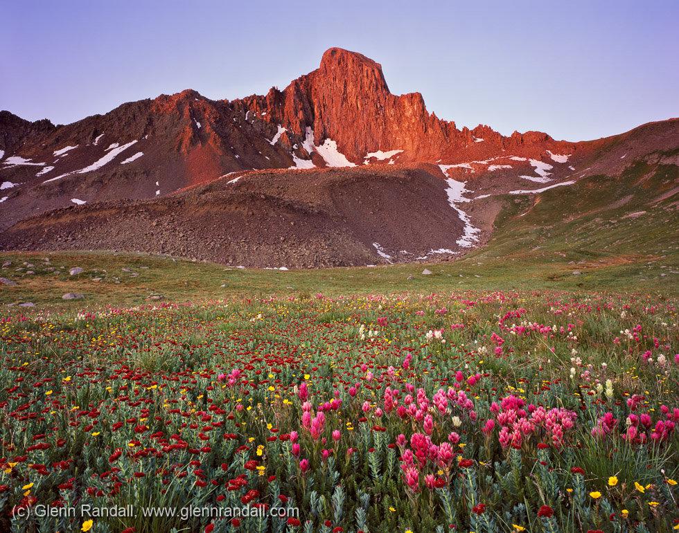 Wetterhorn Peak at Sunrise, Uncompahgre Wilderness, Colorado