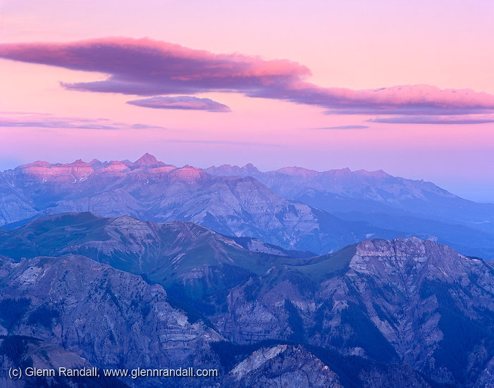 Sunrise from Wetterhorn Peak, Uncompahgre Wilderness, Colorado