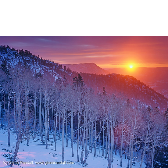 Winter Sunrise on Beaver Mountain