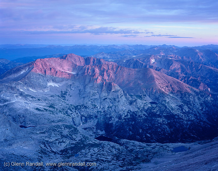 Sunrise from Longs Peak, Rocky Mountain National Park, Colorado