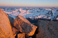 Sunrise from Mt. Harvard, Collegiate Peaks Wilderness, Colorado