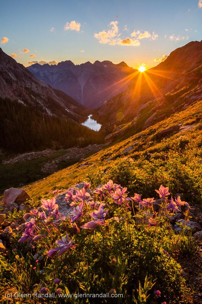Ruby Basin Sunset II, Weminuche Wilderness, Colorado