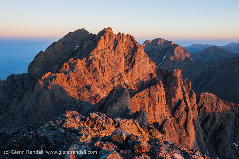 Sunrise from Crestone Needle, Sangre de Cristo Wilderness, Colorado