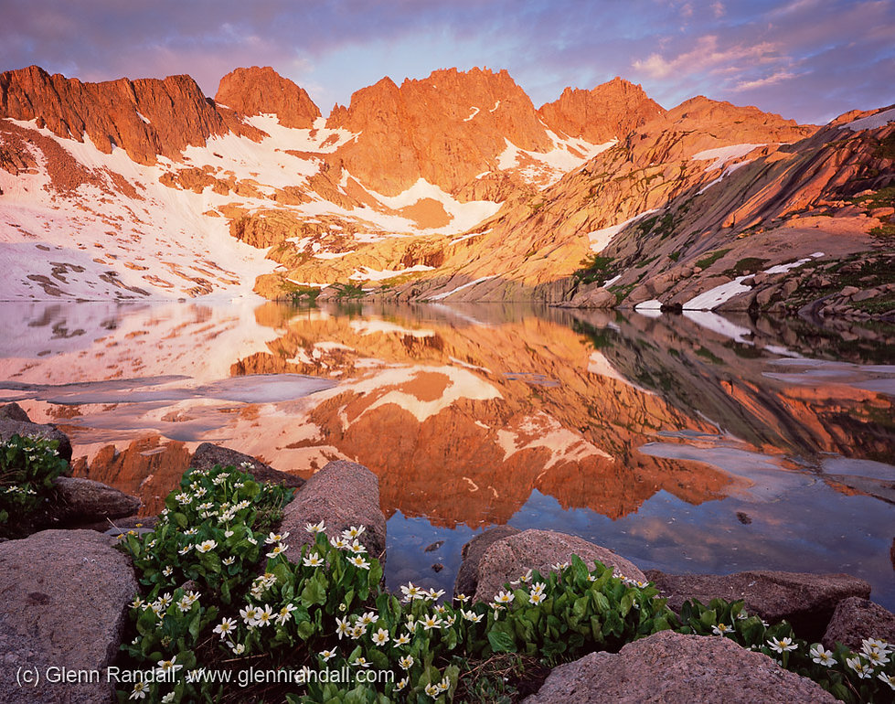 Sunrise at South Sunlight Lake, Weminuche Wilderness, Colorado