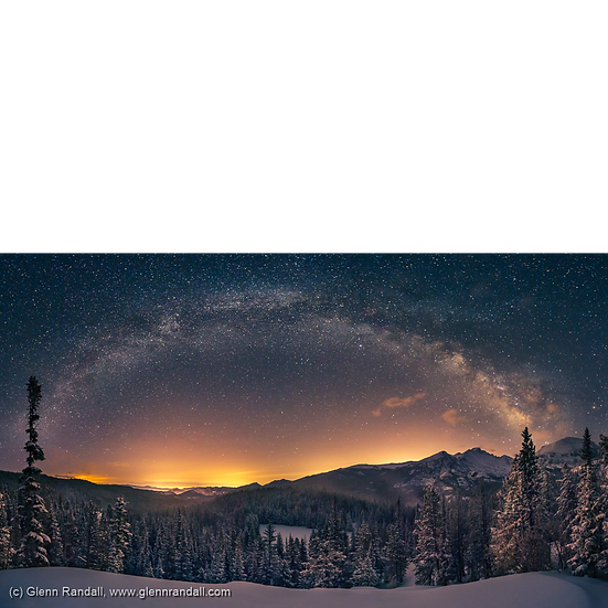 Milky Way Panorama and Longs Peak