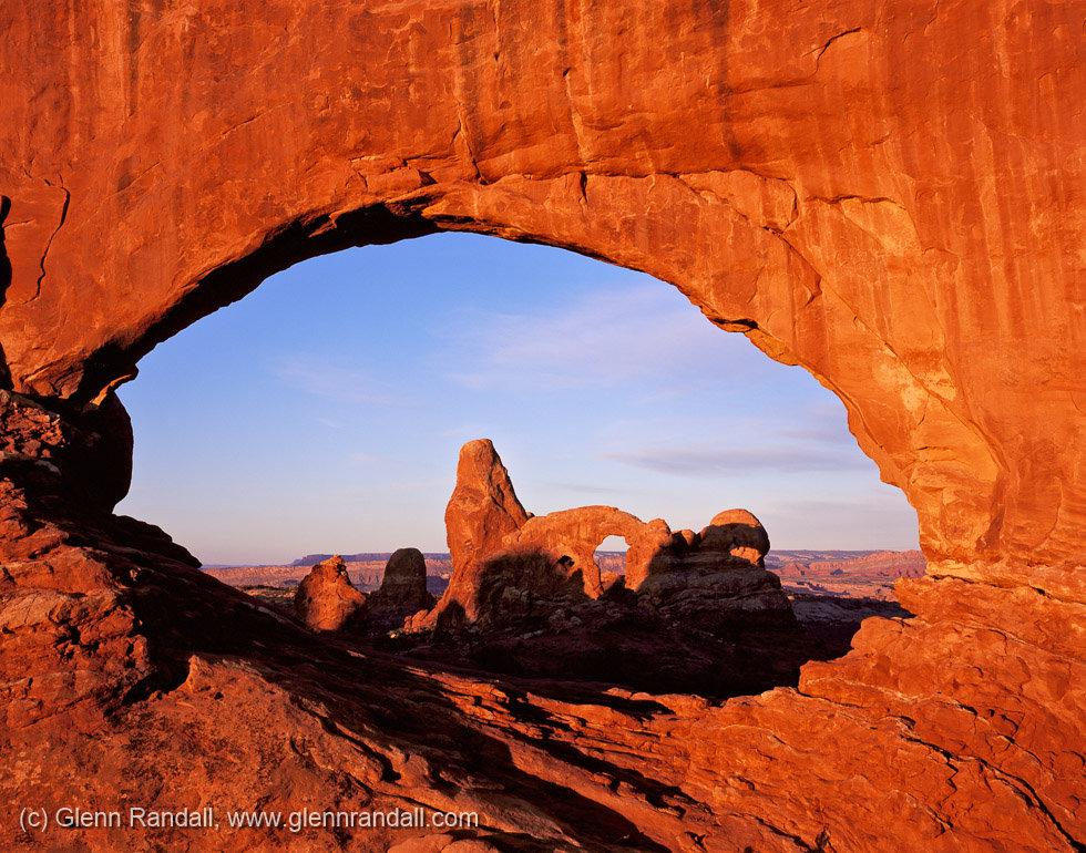 Turret Arch through North Window, Arches National Park, Utah