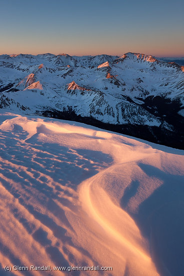 Sunset from Mt. Yale, Collegiate Peaks Wilderness, Colorado