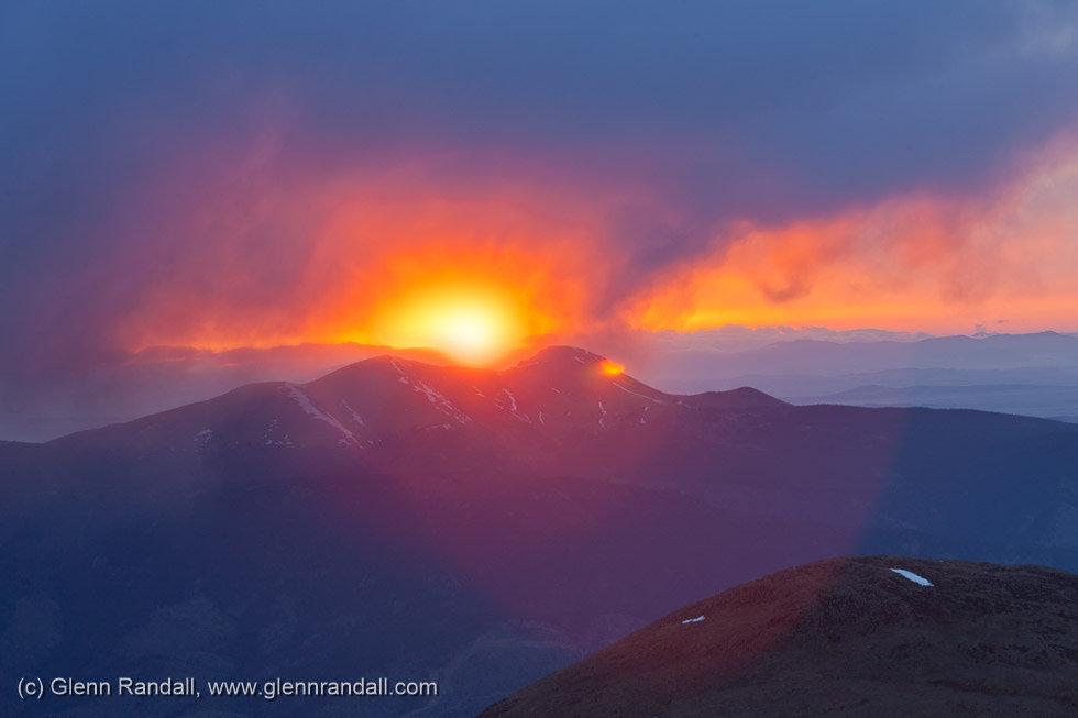 Sunrise from Mt. Columbia, Collegiate Peaks Wilderness, Colorado