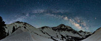 Milky Way Panorama over Capitol Peak, Maroon Bells-Snowmass Wilderness, Colorado