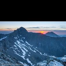 Sunrise from Little Bear Peak