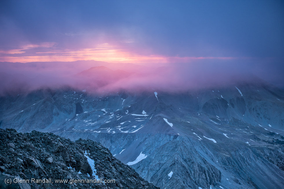 Sunrise from Blanca Peak, Sangre de Cristo Wilderness, Colorado