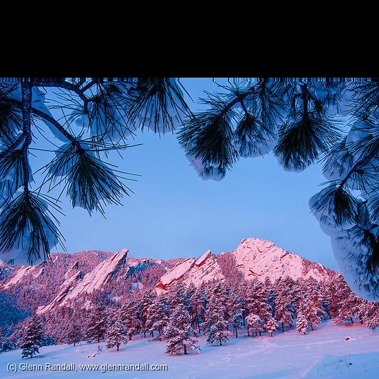 The Flatirons in Winter II