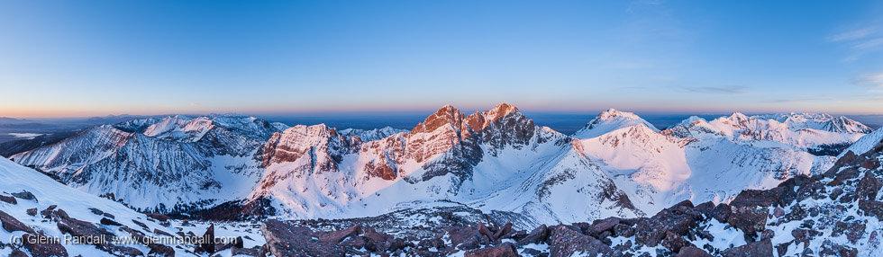 Humboldt Peak Panorama, Sangre de Cristo Wilderness, Colorado