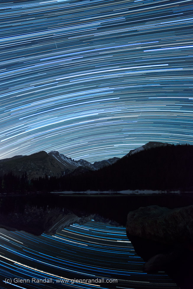 Star Trails over Bear Lake, Rocky Mountain National Park, Colorado