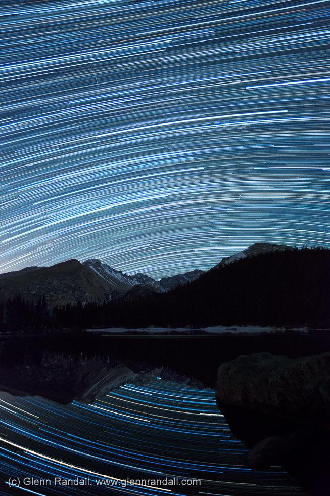 Star Trails over Bear Lake, Rocky Mountain National Park, Colorado