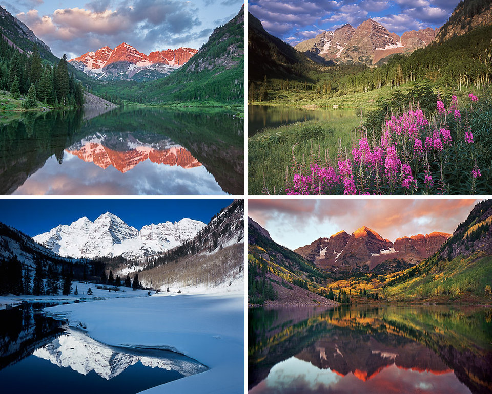 Maroon Bells Four Seasons, Maroon Bells-Snowmass Wilderness, Colorado