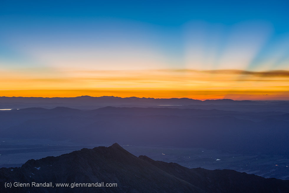 Sunrise from Mt. Shavano, Sawatch Range, Colorado