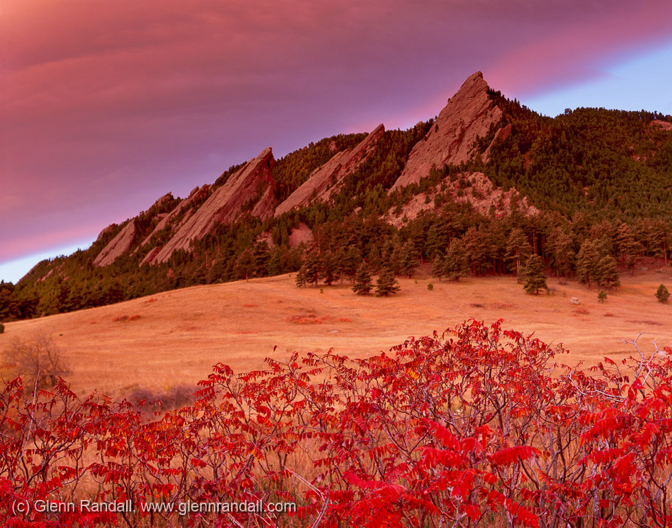 The Flatirons in Fall, Boulder Mountain Parks, Colorado