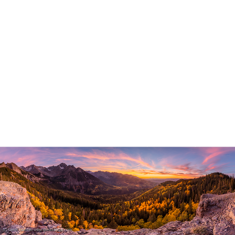 Sunset Panorama from the Sneffels Range Overlook