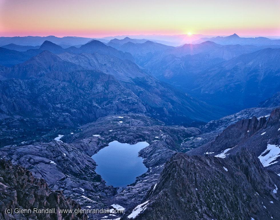 Sunrise from Windom Peak, Weminuche Willderness, Colorado