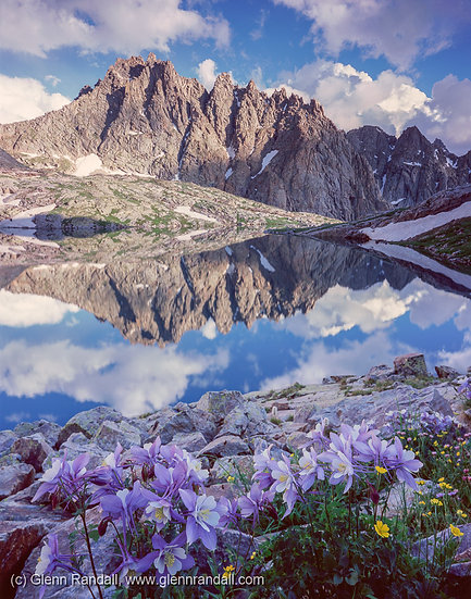 Jagged Mountain Reflection, Weminuche Wilderness, Colorado