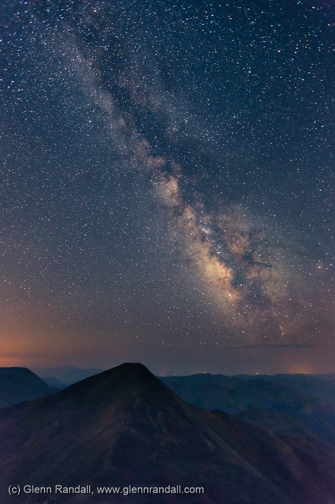 Milky Way over Grays Peak from Torreys Peak, Arapaho National Forest, Colorado