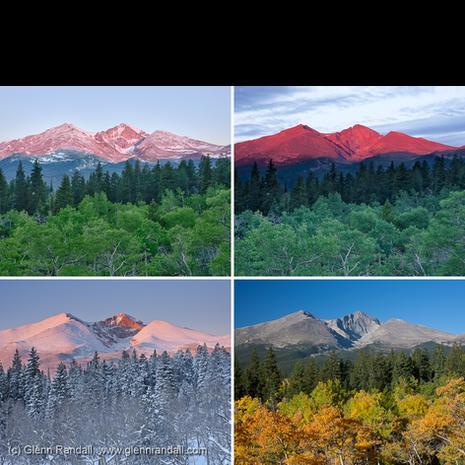 Longs Peak from Twin Sisters Four Seasons