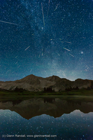 Perseid Meteor Shower from Snowfield Lake