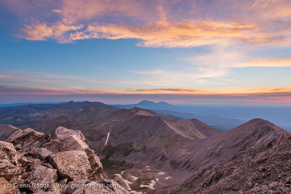 Sunrise from Culebra Peak, Sangre de Cristo Mountains, Colorado