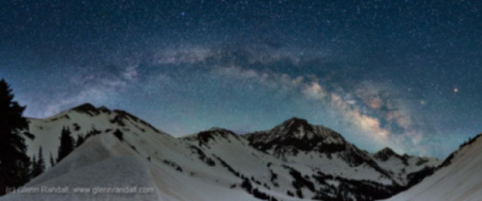 Milky Way Panorama over Capitol Peak, Maroon Bells-Snowmass Wilderness, Colorado