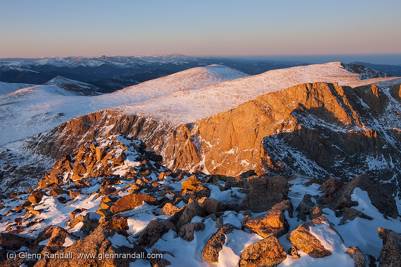Sunset from Mt. Bierstadt, Mt. Evans Wilderness, Colorado