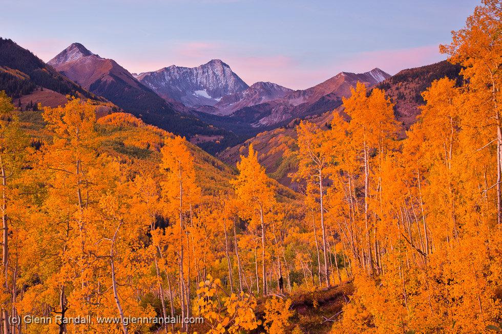 Twilight Glow over Capitol Peak, Maroon Bells-Snowmass Wilderness, Colorado