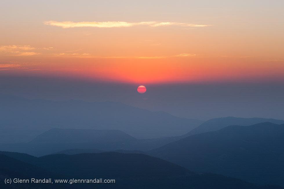 Sunrise from Mt. Lindsey, Sangre de Cristo Wilderness, Colorado