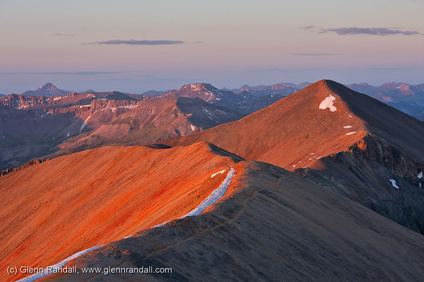 Sunrise from Redcloud Peak, Redcloud Peak Wilderness Study Area, Colorado