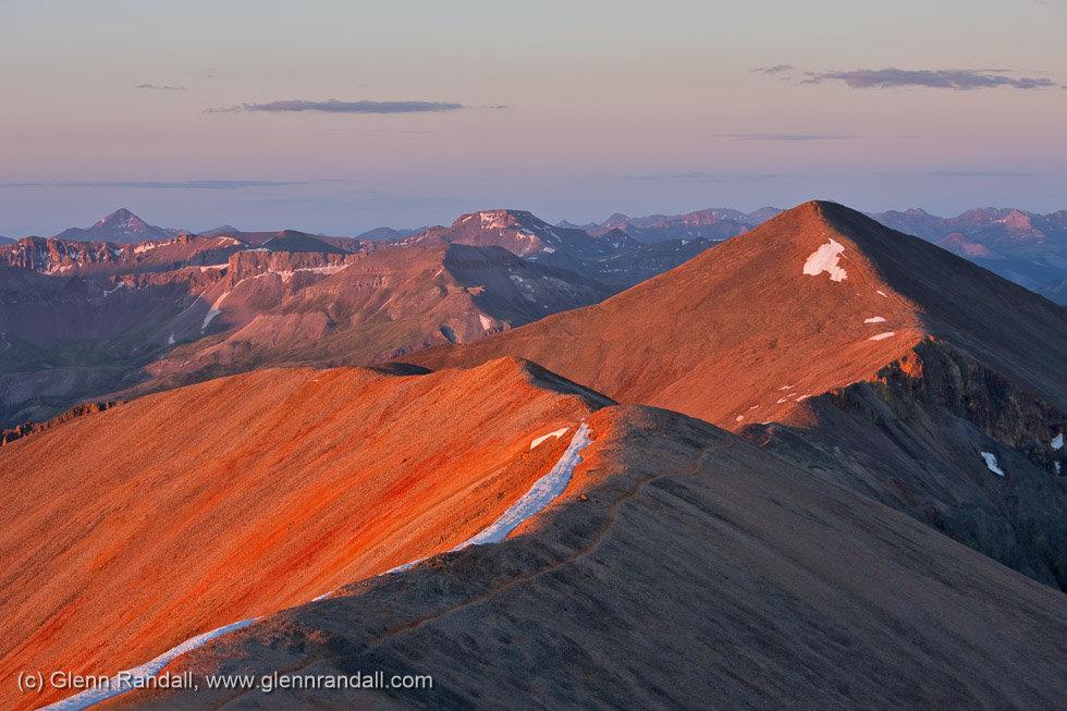 Sunrise from Redcloud Peak, Redcloud Peak Wilderness Study Area, Colorado