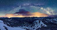 Milky Way Panorama from Huron Peak, Collegiate Peaks Wilderness, Colorado