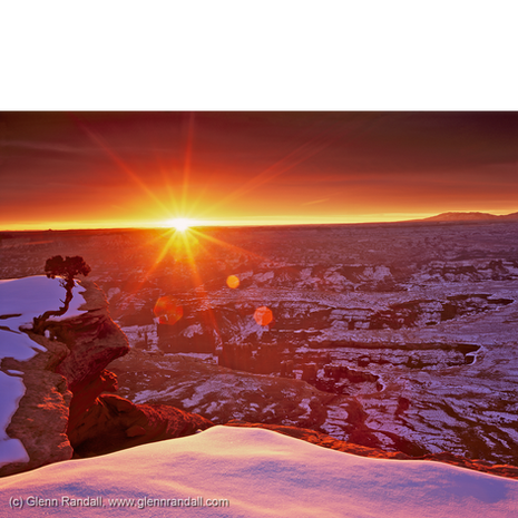 Winter Sunrise at Grand View Point