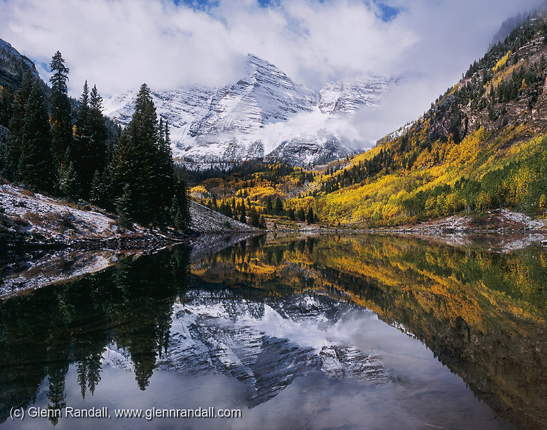 Clearing Storm over the Maroon Bells, Maroon Bells-Snowmass Wilderness, Colorado