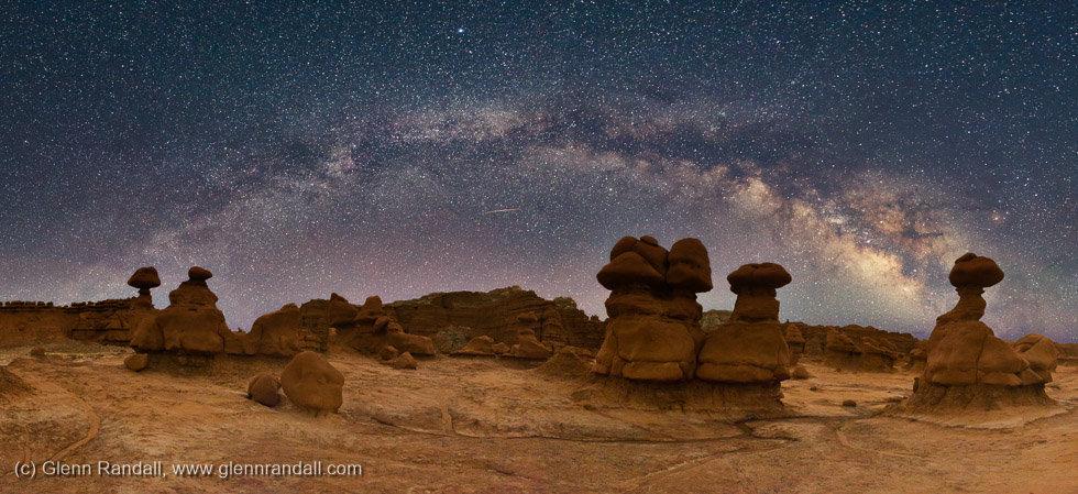 Milky Way Panorama over Goblin Valley, Goblin Valley State Park, Utah