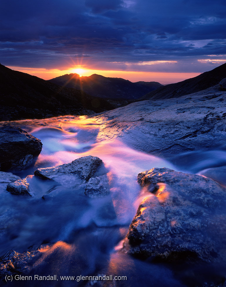 Sunrise at Columbine Falls, Rocky Mountain National Park, Colorado