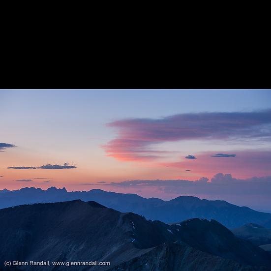 Sunset from Ellingwood Peak
